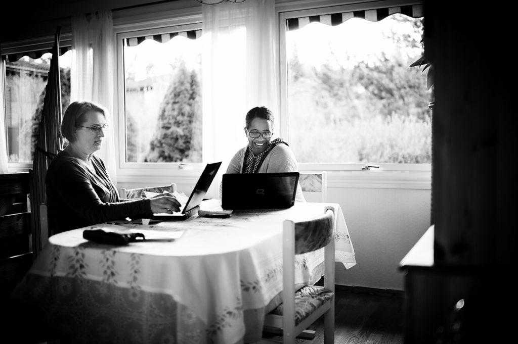 Bjørg Irene Karlsen og Mulu Kabeta, 2012. Foto: Erlend Berge